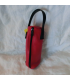 Obut kule veske lær (rød)