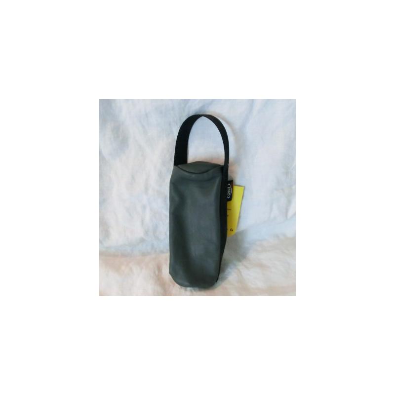 Obut kule veske lær (grå)
